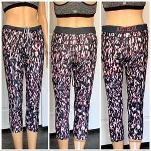 Nike Dri-Fit Yoga Pants/Leggings Gray/Hot Pink